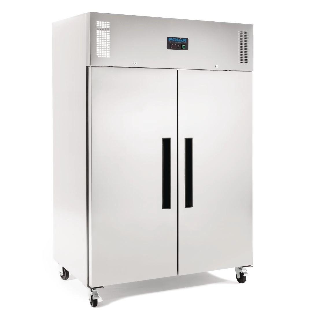 Polar Double Door Freezer Stainless Steel 1200Ltr
