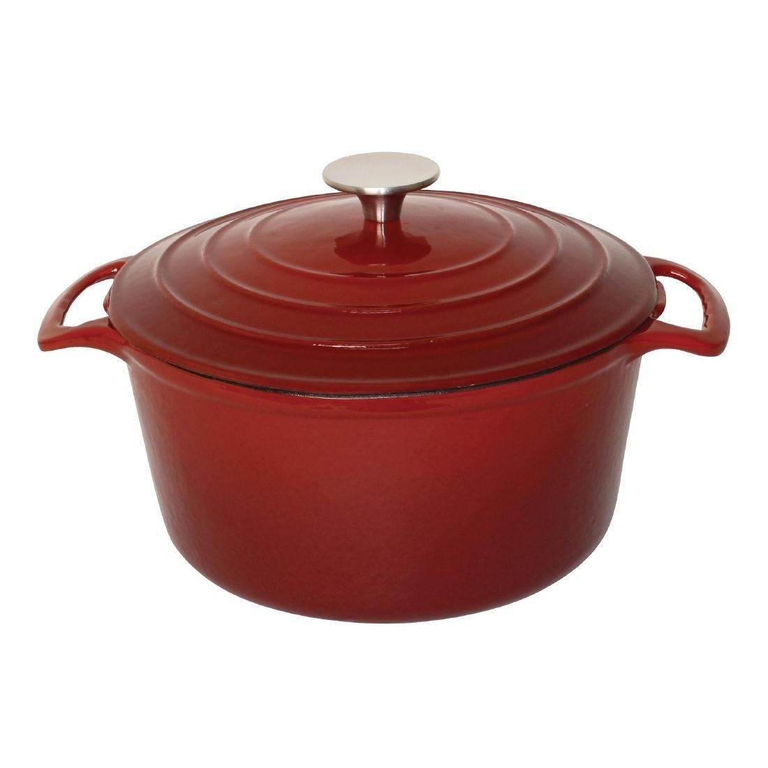 Vogue Red Round Casserole Dish 3.2Ltr