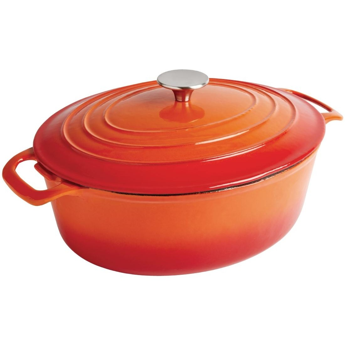 Vogue Orange Oval Casserole Dish 5Ltr