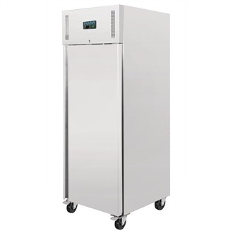 Polar Heavy Duty Single Door Freezer Stainless Steel 650Ltr