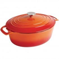 Vogue Orange Oval Casserole Dish 5Ltr