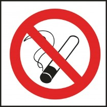 No Smoking Symbol Sign - Self Adhesive