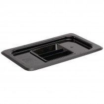 Vogue Polycarbonate 1/4 Gastronorm Lid Black